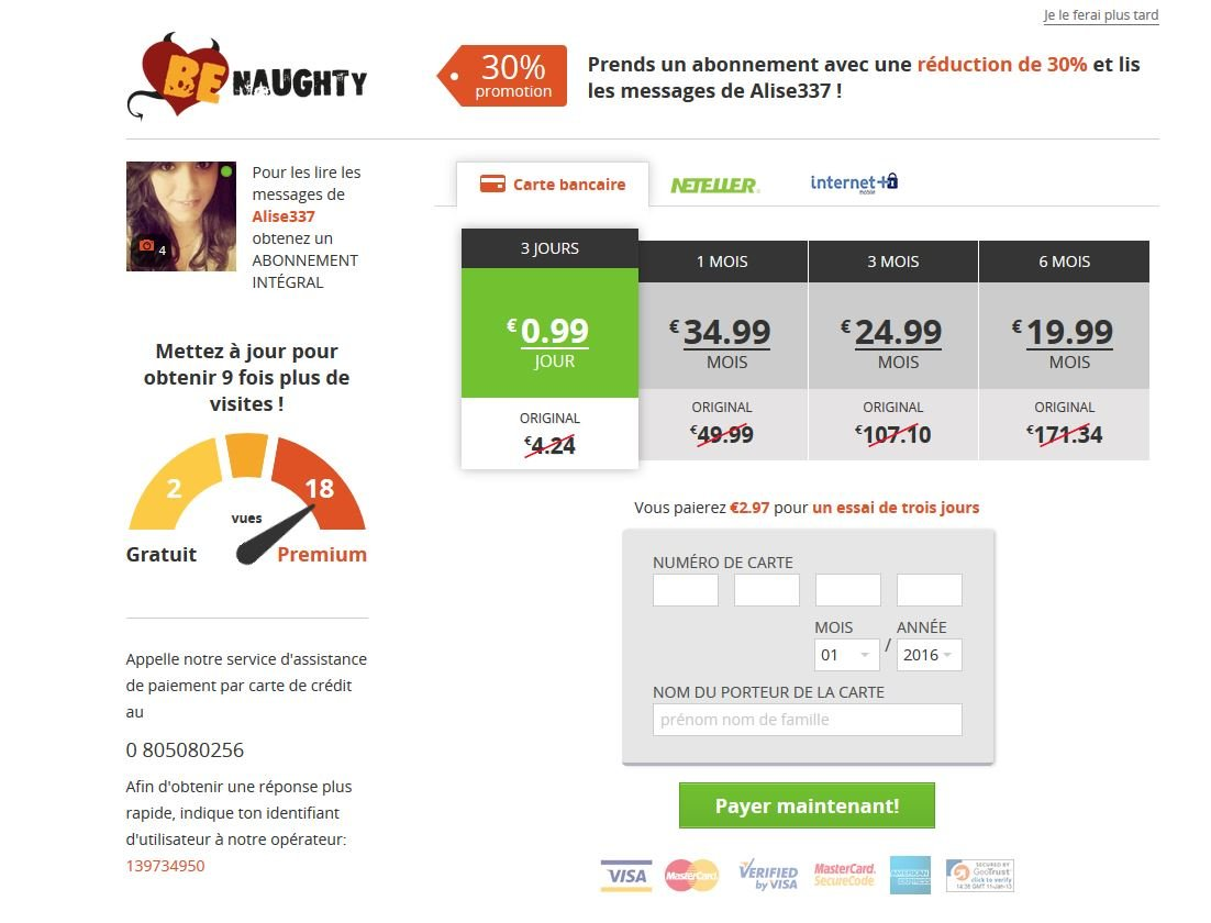 Tarif des sites de rencontre