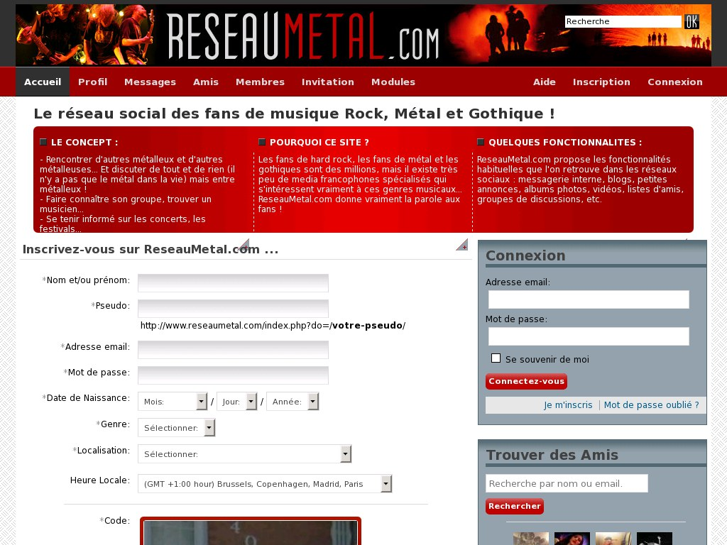 Site rencontre rock metal
