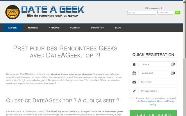 dateageek avis sur le site de rencontre geek et gamer. Black Bedroom Furniture Sets. Home Design Ideas