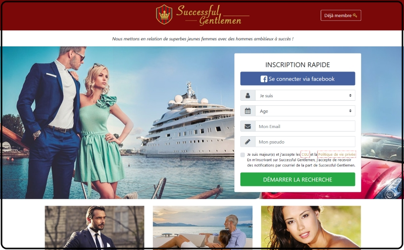 Successful Gentlemen - Nouveau site de rencontre
