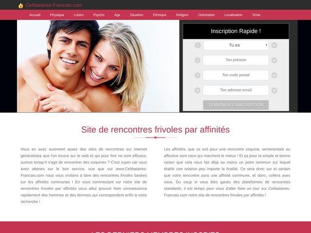 celibataires-francais.com : Site de rencontre par affinités