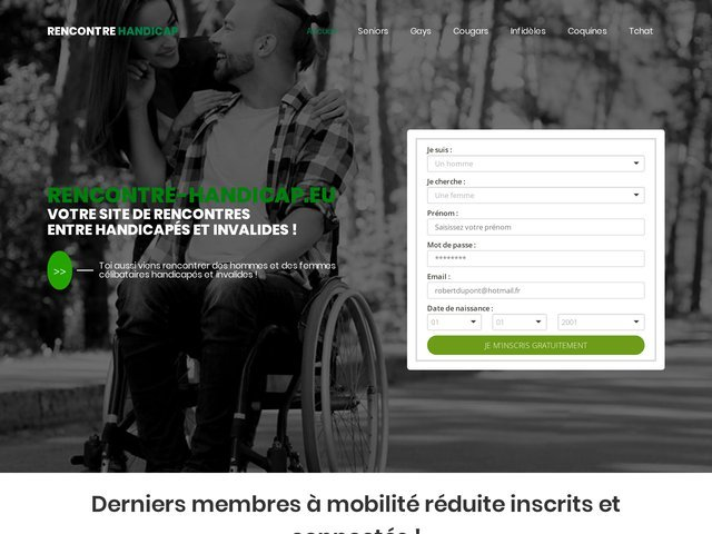 Rencontre-handicap.eu : Site de rencontres entre handicapés
